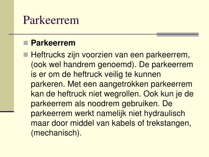 Parkeerrem