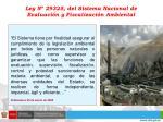 ley n 29325 del sistema nacional de evaluaci n y fiscalizaci n ambiental