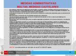 medidas administrativas multas medidas cautelares