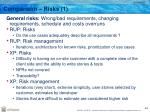 comparison risks 1
