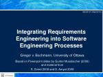 integrating requirements engineering into software engineering processes
