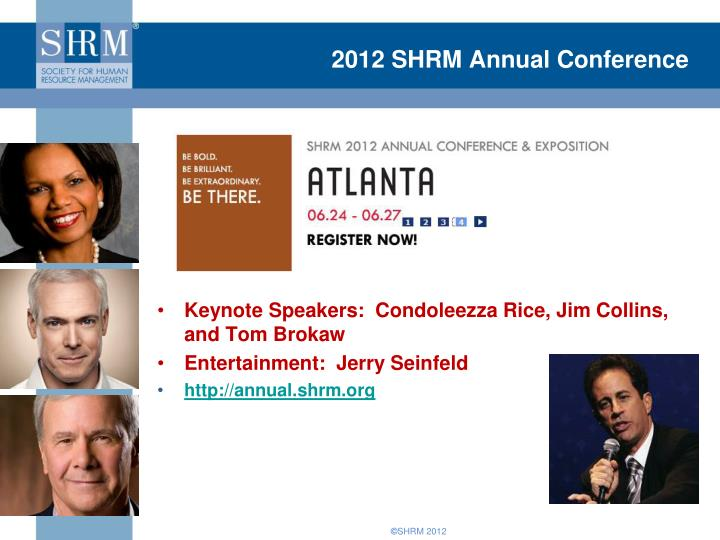 2012 SHRM Annual Conference