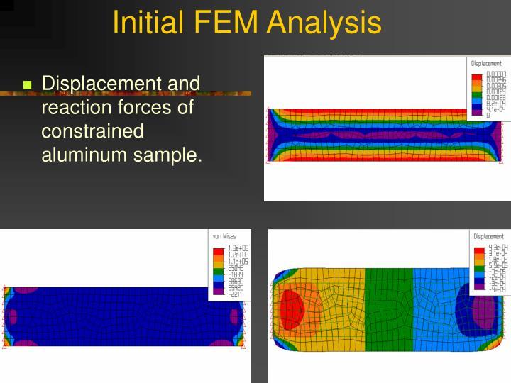 Initial FEM Analysis