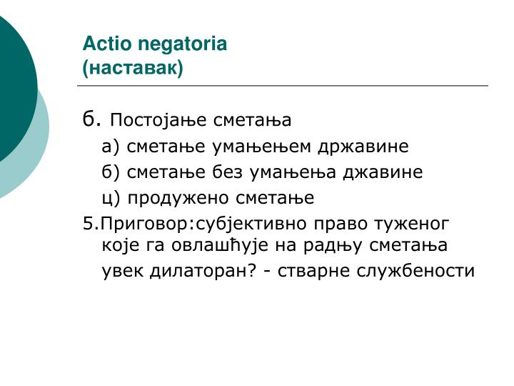 Actio negatoria
