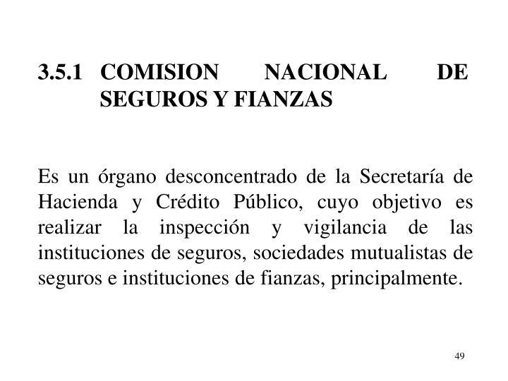 3.5.1   COMISION        NACIONAL         DE