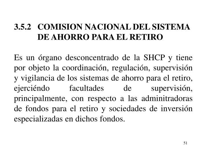3.5.2   COMISION NACIONAL DEL SISTEMA