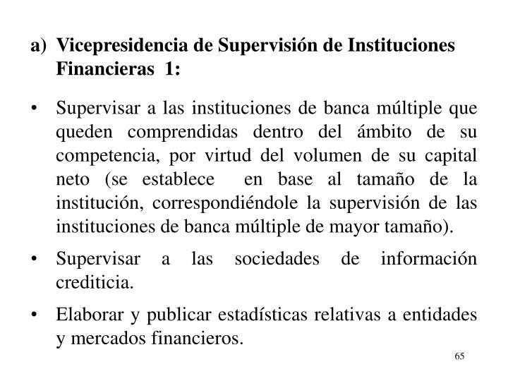 a)Vicepresidencia de Supervisin de Instituciones Financieras  1: