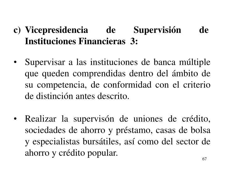 c)Vicepresidencia de Supervisin de Instituciones Financieras  3: