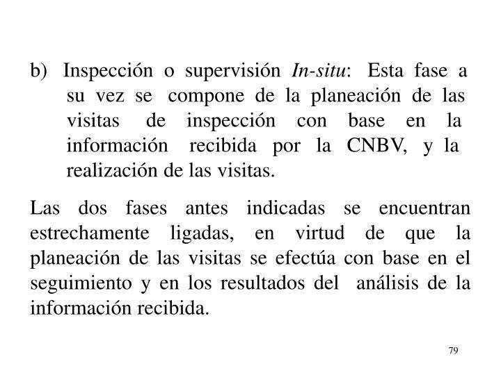 b)   Inspeccin  o  supervisin