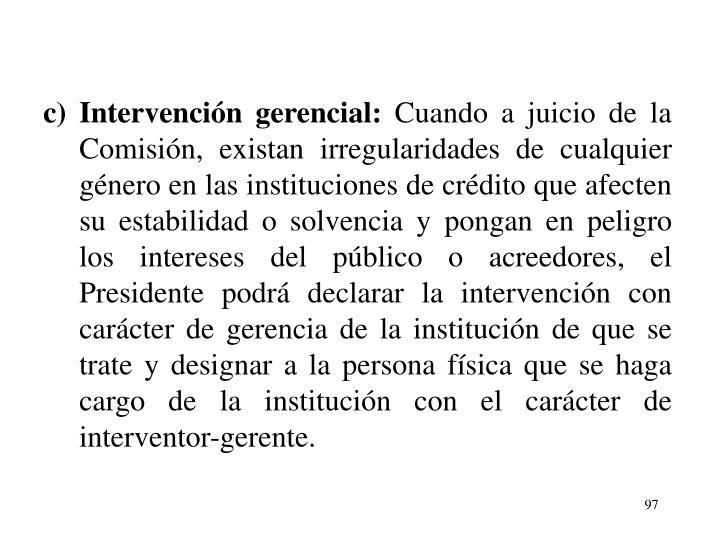 Intervencin gerencial: