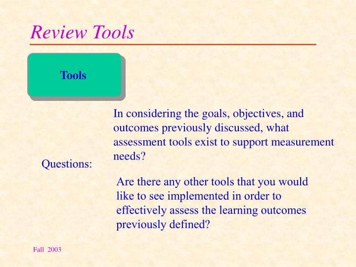 Review Tools