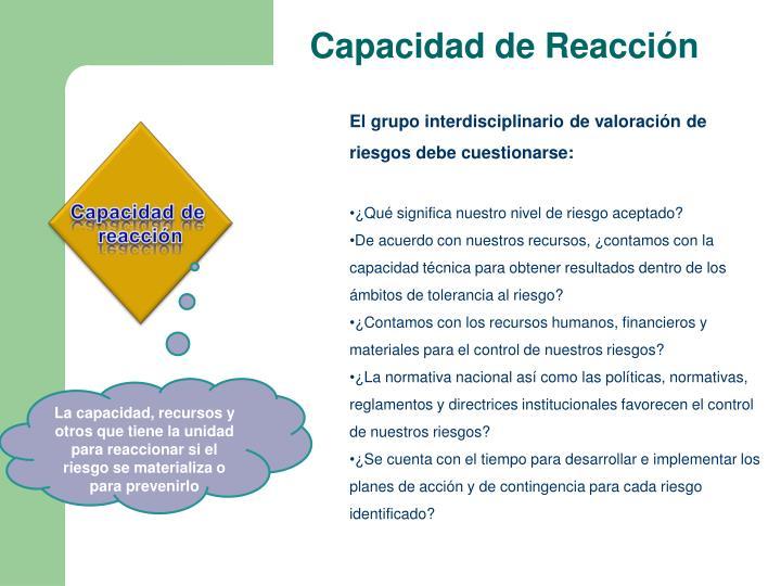 Capacidad de Reacción