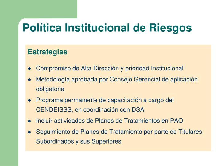 Política Institucional de Riesgos