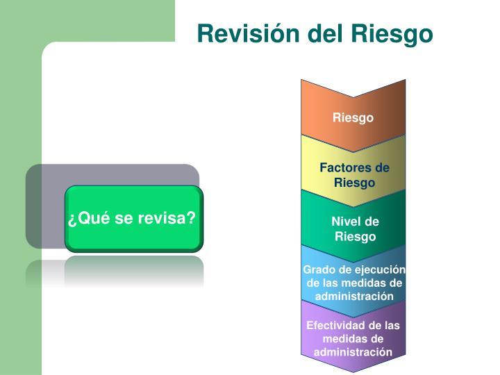 Revisión del Riesgo