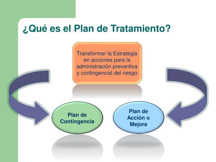 ¿Qué es el Plan de Tratamiento?