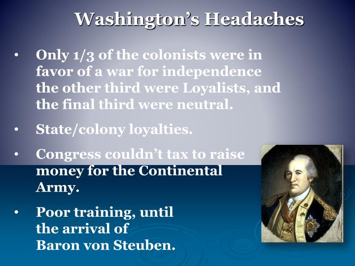 Washington's Headaches