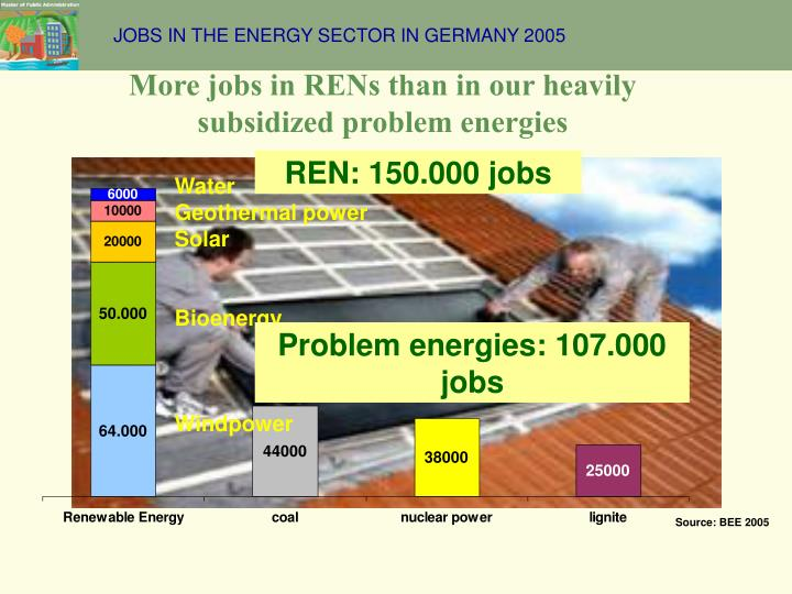 JOBS IN THE ENERGY SECTOR IN GERMANY 2005