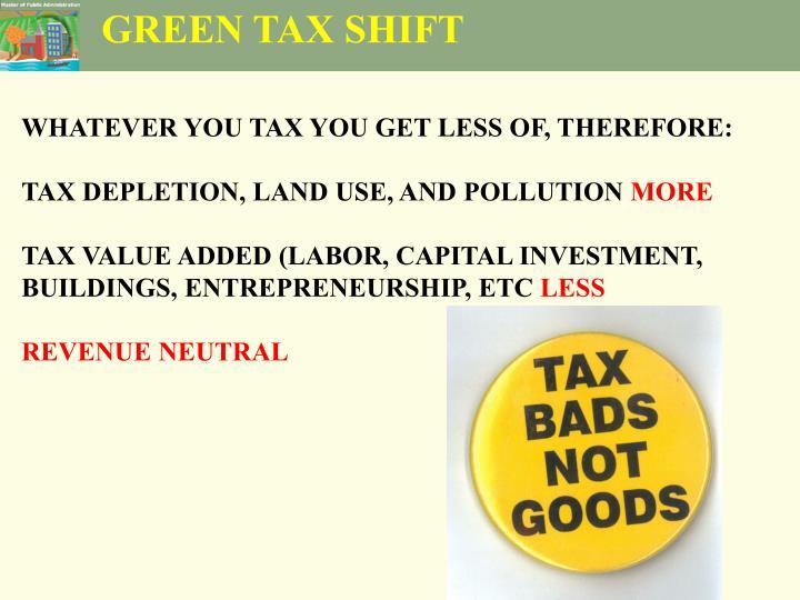 GREEN TAX SHIFT