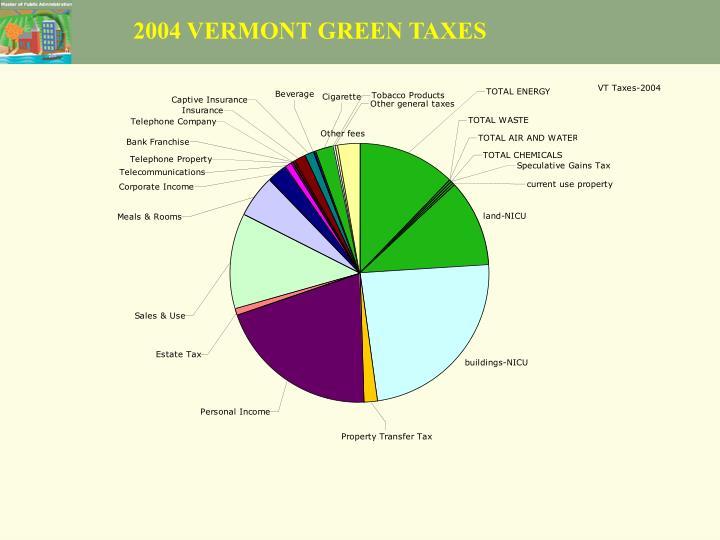 2004 VERMONT GREEN TAXES