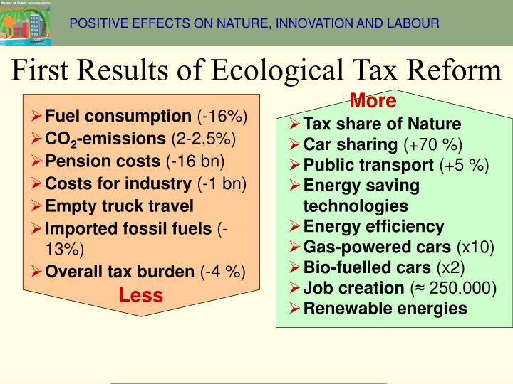 POSITIVE EFFECTS ON NATURE, INNOVATION AND LABOUR
