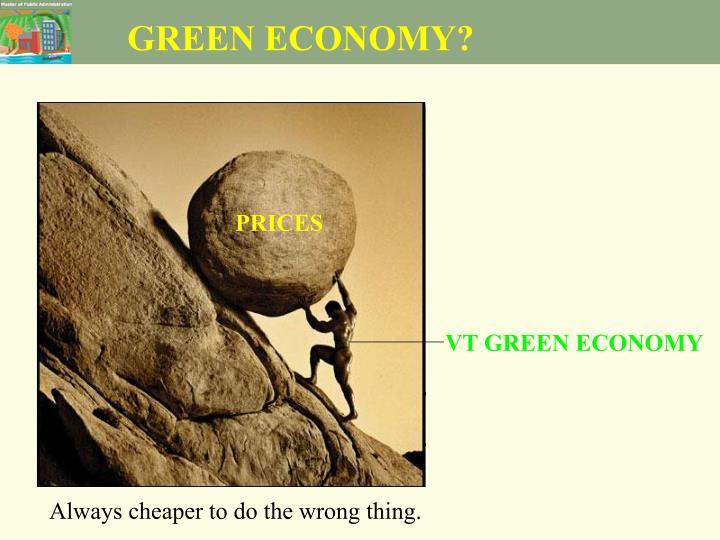 GREEN ECONOMY?