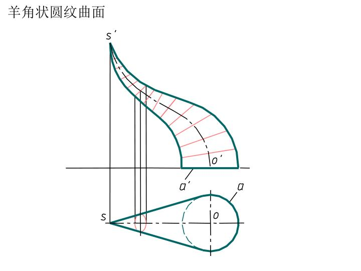 羊角状圆纹曲面