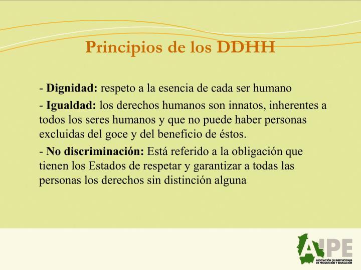 Principios de los DDHH