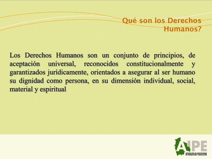 Qué son los Derechos Humanos?