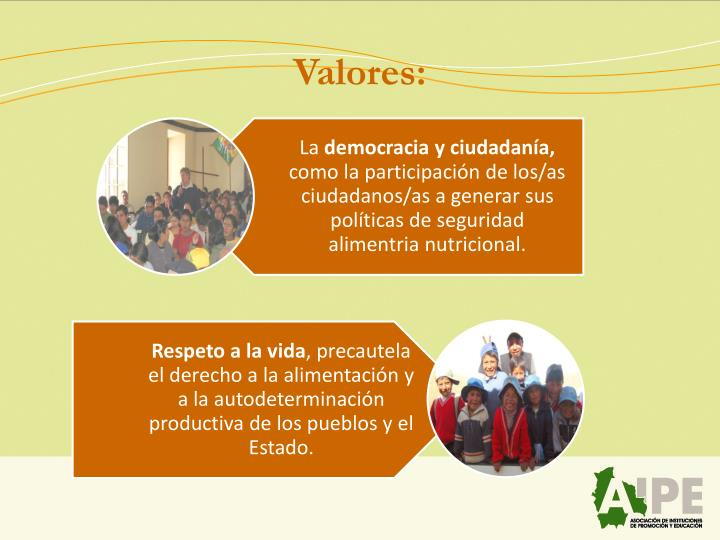 Valores: