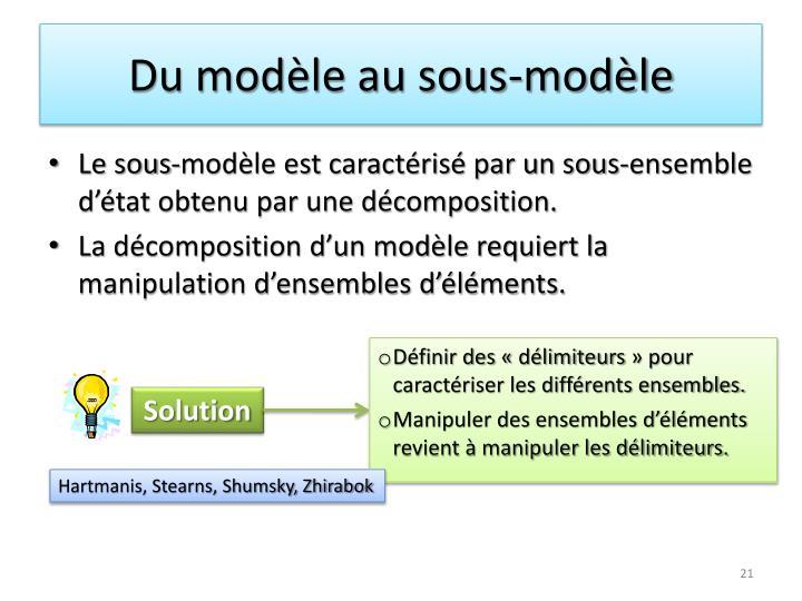 Du modèle au sous-modèle