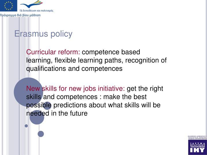 Erasmus policy