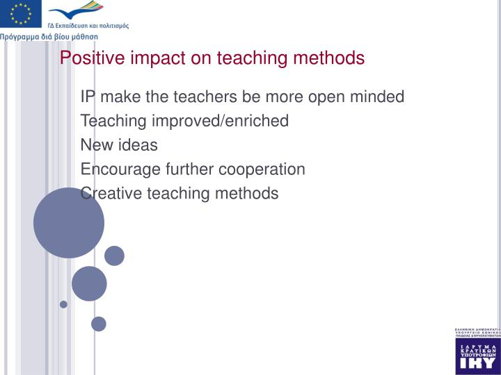 Positive impact on teaching methods