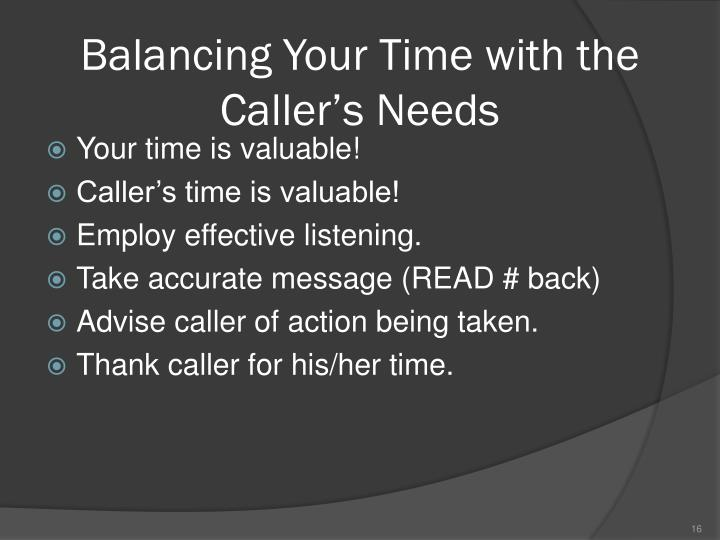 Balancing Your Time with the