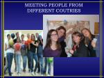 meeting people from different coutries