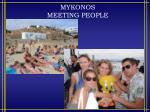 mykonos meeting people
