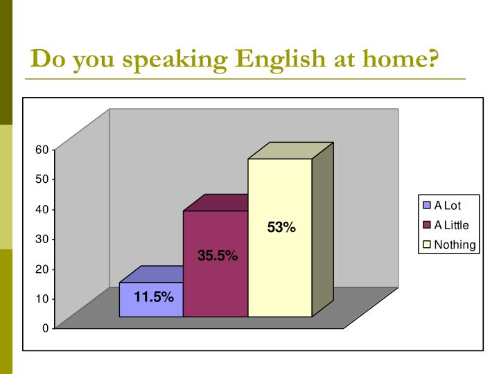 Do you speaking English at home?