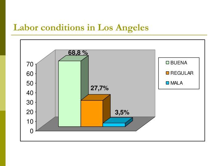 Labor conditions in Los Angeles