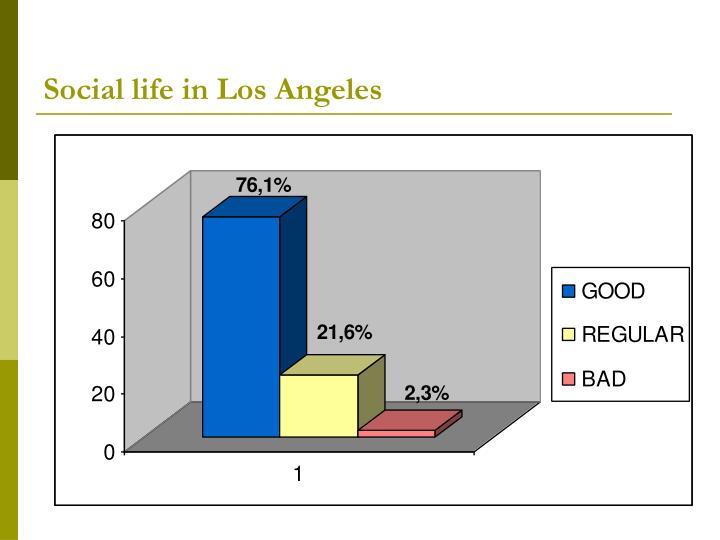 Social life in Los Angeles
