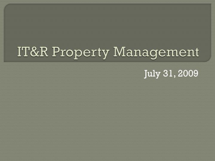 It r property management