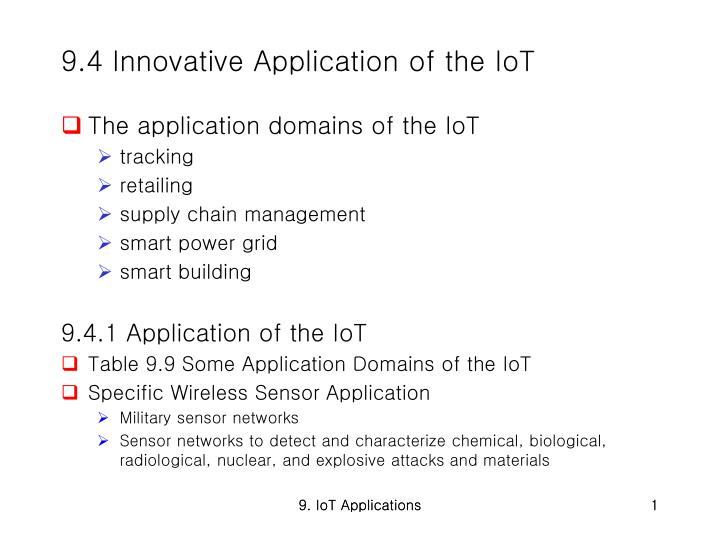 9 4 innovative application of the iot