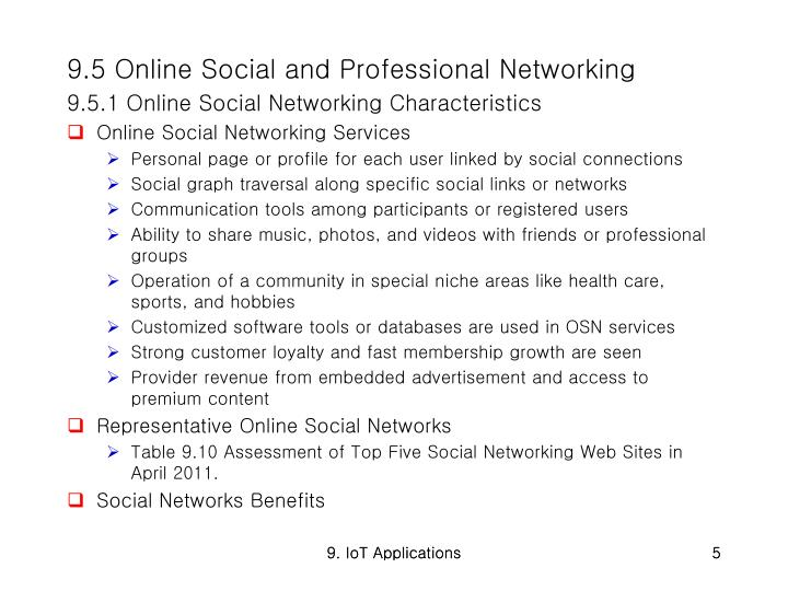 9.5 Online Social and Professional Networking