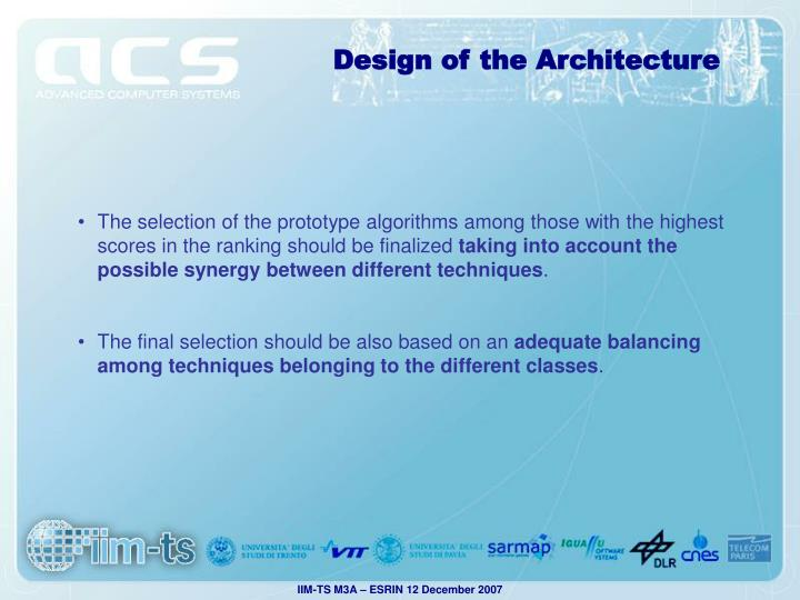 Design of the Architecture