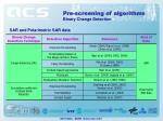 pre screening of algorithms1