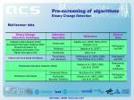 pre screening of algorithms2