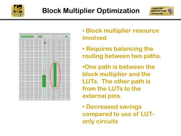 Block Multiplier Optimization