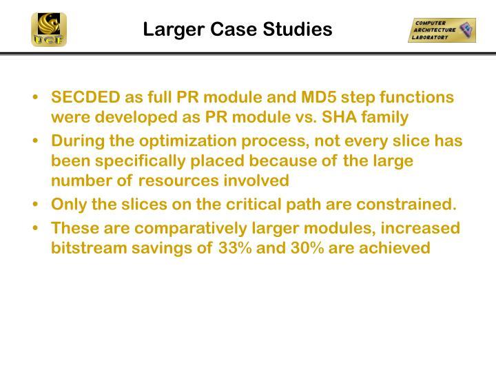 Larger Case Studies