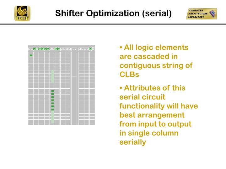 Shifter Optimization (serial)