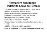 permanent residence indefinite leave to remain1