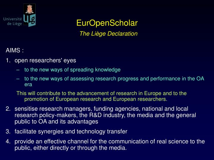 EurOpenScholar