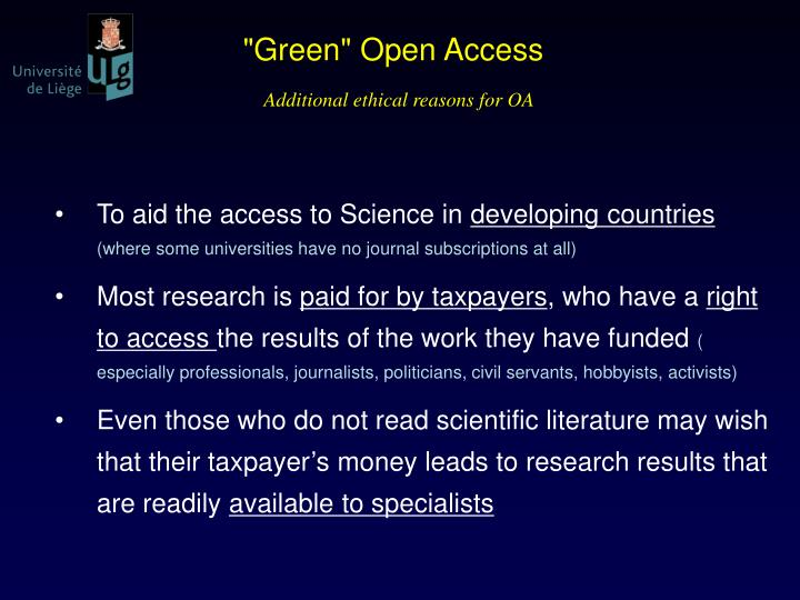 """Green"" Open Access"